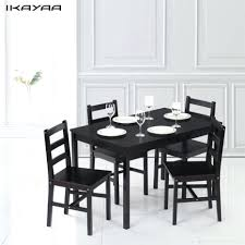 gorgeous ikayaa modern 5pcs pine wood dining table set kitchen