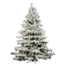 artificial christmas tree with lights shop vickerman 6 5 ft pre lit alaskan pine artificial christmas tree