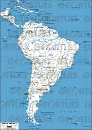 North America South America Map by Geoatlas Continental Maps South America Map City Illustrator