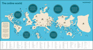 World Map Us by Mapping The Online World Nominet