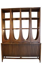 Broyhill China Cabinet Vintage Broyhill Vintage U0027brasilia U0027 Two Piece Room Divider Chairish