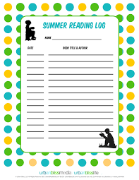 reading log template printable reading log with tips for