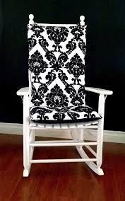 nice black and white rocking chair cushions rocking chair cushion