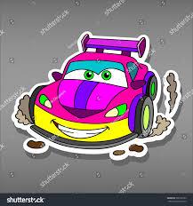jeep stickers for girls cartoon pink car sticker girlsvector illustration stock vector