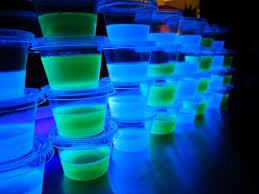 glow in the dark blacklight jello shots vodka berry blue u0026 lime