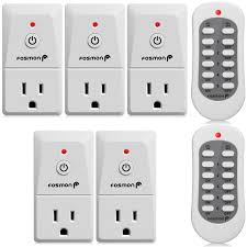 120v 15a indoor wireless remote control outlet switch 5 outlets