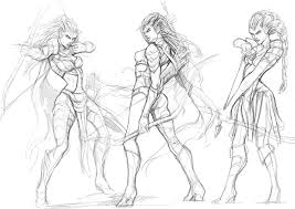 rough sketch female reaper by engkit on deviantart