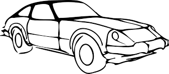 animated wrecked car car line drawing clip art 40