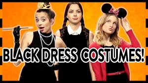 3 easy halloween costumes with a little black dress youtube