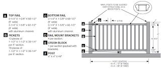 Deck Stair Handrail Height Vinyl Railing Kingston Vinyl Railing