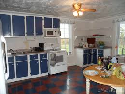 kitchen cabinets with blue doors budget redo 468 transformed this farmhouse kitchen money