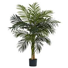 golden palm tree in pot decorist