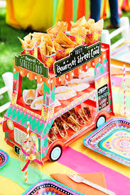 vibrant mexican fiesta birthday party adorable food truck