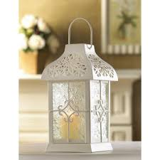 wholesale ivory white metal daisy gazebo candle lantern elegant