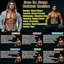 jaco de bruyn workout routine monsterabs