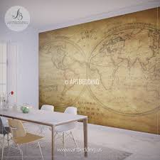 vintage map wall mural self adhesive photo mural artbedding vintage world map from 1833 wall mural self adhesive peel stick photo mural