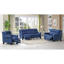blue reclining sofa and loveseat amax leather dolce 100 leather 3 piece set power reclining sofa