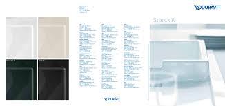 duravit starck k duravit pdf catalogues documentation brochures