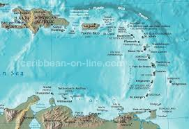 carribbean map eastern caribbean map