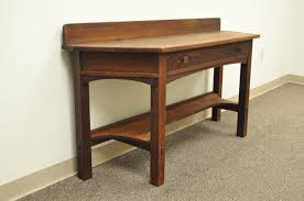 Oak Sofa Table With Drawers Rare Limbert One Drawer Mission Oak Console Table With Backsplash