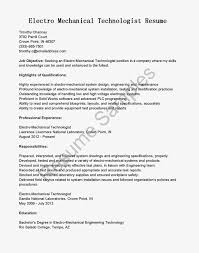 mechanical resume examples mechanical technician resume free resume example and writing mechanical technician resume sample resume samples electro mechanical technologist sample resumecompanionmechanical engineering student