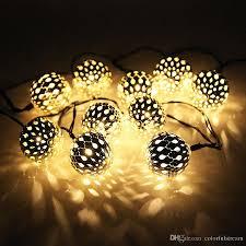 cheap 10 moroccan metal solar powered string lanterns led