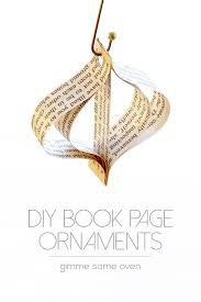diy easy book page ornaments gimme some oven