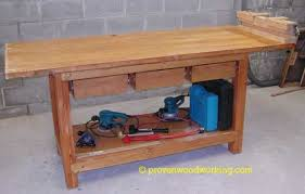 this workbench plan uses 2x4 u0027s a solid core door as the top and