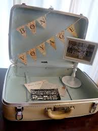 wedding wishes honeymoon vintage suitcase for wedding cards and honeymoon funds