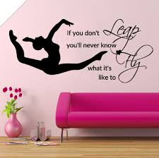 online get cheap stencils for girls bedroom aliexpress com leap fly girl bedroom decal gymnastic vinyl stickers muraux bedding decor quotes sports art stencils for