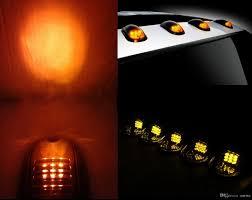 led truck marker lights 5pcs smoked amber led cab roof running marker lights set for truck