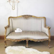 bedroom loveseat english style bedroom loveseat with silver fabric upholstery and