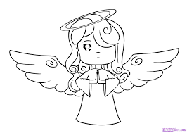 how to draw a cartoon angel step by step christmas stuff