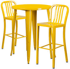 Yellow Bar Table Flash Furniture 30 U0027 U0027 Round Metal Indoor Outdoor Bar Table Set W 2