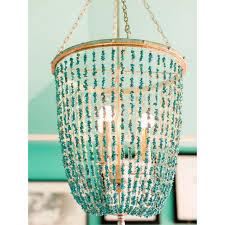 turquoise chandelier ethan allen turquoise beaded valerie chandelier chairish