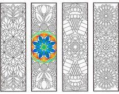 coloring bookmarks advanced flower mandalas 2 coloring