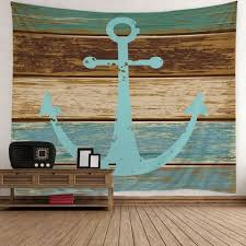 light blue w59 inch l79 inch home decor nautical anchor rustic