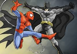 comic book showdown batman spider man schmoes