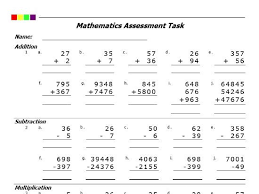 addition subtraction multiplication division pdf by pro resources
