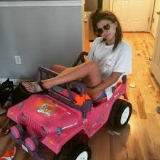 barbie power wheels college student drives power wheels barbie break com