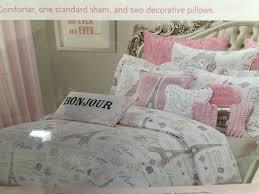 new nicole miller kid 4pc paris twin comforter set pink eiffel