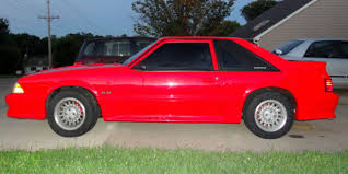 Red Mustang With Black Stripes Ford Mustang Fox Body 1988 Red With Black Racing Stripes For Sale