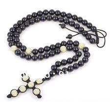 christian rosary high quality fashion cross shamballa necklace light yellow
