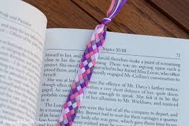ribbon bookmarks six strand braided ribbon bookmark blossomsandposies