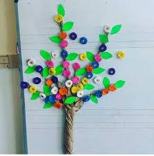 door decoration tree craft funnycrafts