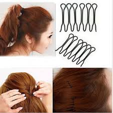 invisible hair black hair styling clip for women stick iron bun maker braid hair