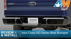 Ford F150 Truck Bumpers - 2009 2014 ford f 150 iron cross hd series rear bumper review