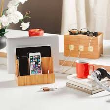 build a charging station amazon com g u s eco friendly bamboo multi device charging