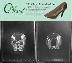 where to buy sugar skull molds cybrtrayd h167ab medium 3d skull chocolate candy mold
