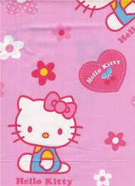 pink kawaii fabric kitty flowers 0 5m kitty